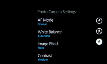 The camera interface on the Windows Phone 7 devices - HTC HD7 vs HTC Surround vs Samsung Focus
