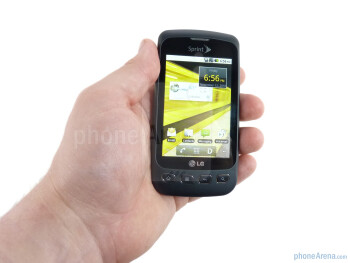 The LG Optimus S  feels fantastic in your hand - LG Optimus S Review