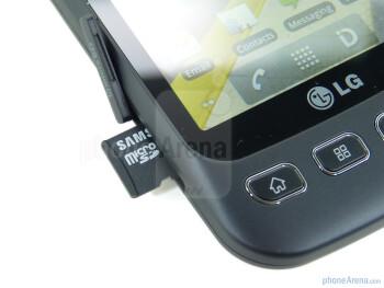microSD card slot - LG Optimus S Review