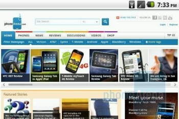 Internet browsing with the LG Optimus S - LG Optimus S Review