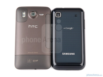 When held, the two handsets make for an entirely opposite feel - HTC Desire HD vs Samsung Galaxy S