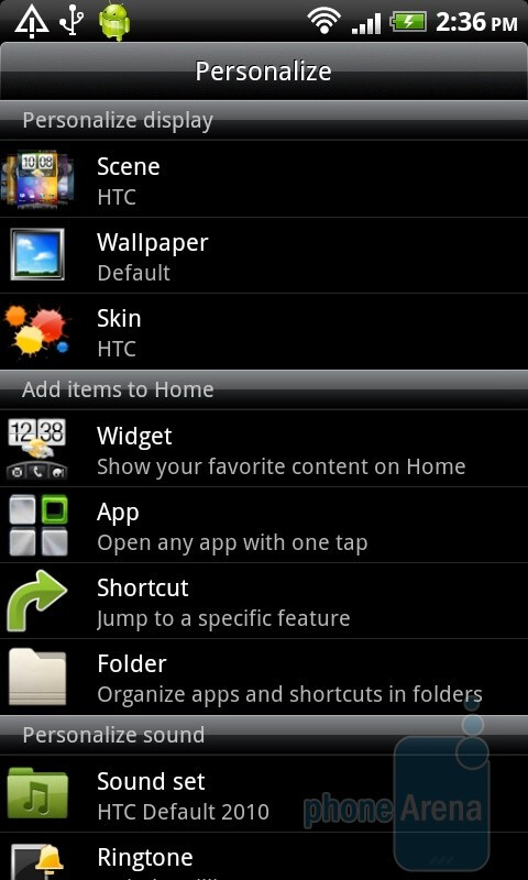 Personalizing Sense UI - HTC Desire HD - HTC Desire HD vs Samsung Galaxy S