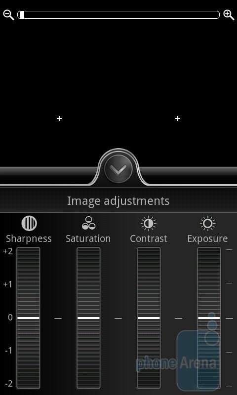 Camera interface of the HTC Desire HD - HTC Desire HD vs Samsung Galaxy S