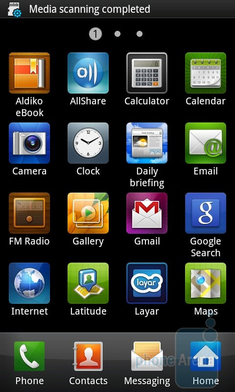 TouchWiz 3.0 is fluid, and a pleasure to use on the Samsung Galaxy S - HTC Desire HD vs Samsung Galaxy S