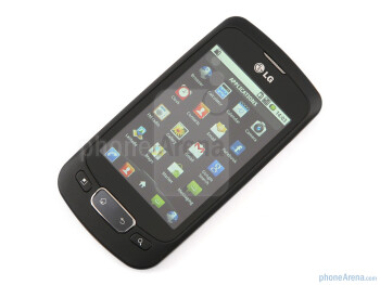 "Below the 3.2"" screen there are clickable Android buttons - LG Optimus One Review"