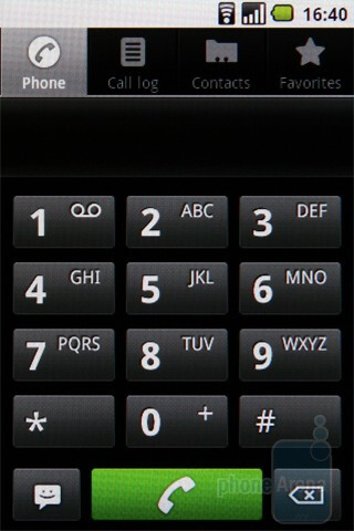 Dialer - LG Optimus One Review