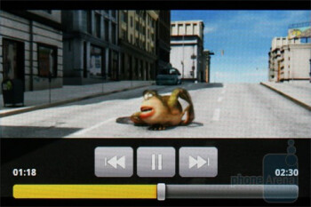 Video playback - LG Optimus One Review