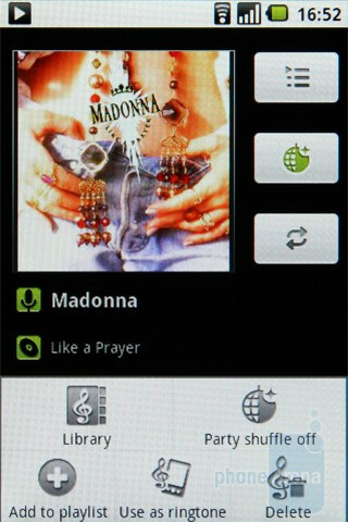 The music player of the LG Optimus One offers the basics - LG Optimus One Review