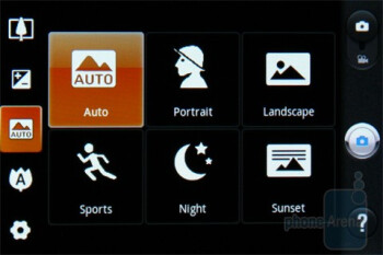 Camera interface - LG Optimus One Review