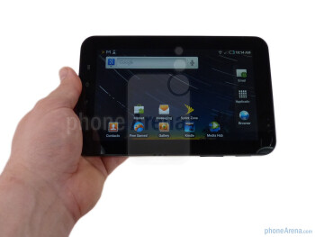 Samsung Galaxy Tab  fits very well in your hand - Samsung Galaxy Tab for the U.S. Review