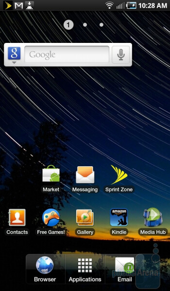 Home screen - Samsung Galaxy Tab for the U.S. Review