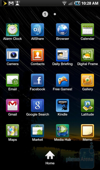Main menu - Samsung Galaxy Tab for the U.S. Review