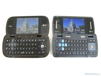LG Octane (left) and LG enV3 (right) - LG Octane Review