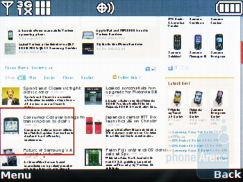 Internet browsing - LG Octane Review