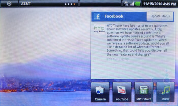 The homescreen and the menu of the Dell Streak - Dell Streak Review