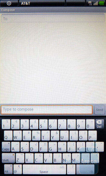 Portrait mode - The on-screen QWERTY keyboard - Dell Streak Review