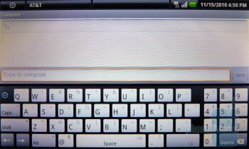 Landscape mode - The on-screen QWERTY keyboard - Dell Streak Review
