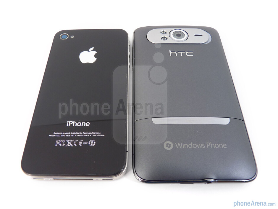 Both devices sport 5-megapixel auto-focus cameras in the rear - HTC HD7 vs Apple iPhone 4