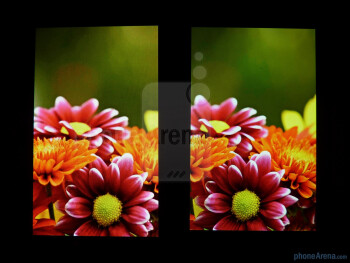 The Samsung Focus (left) and the Samsung Captivate (right) - Samsung Focus vs Samsung Captivate