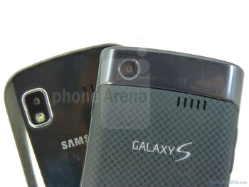 Both devices sport 5-megapixel auto-focus cameras in the rear - Samsung Focus vs Samsung Captivate