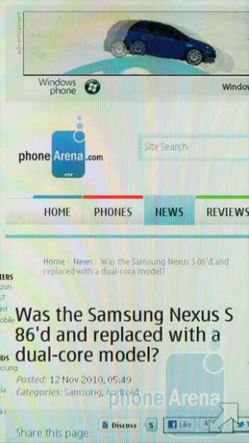 Internet browsing - Nokia C6-01 Review