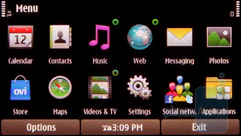 The menu in landscape mode - The menu of the Nokia C6-01 - Nokia C6-01 Review