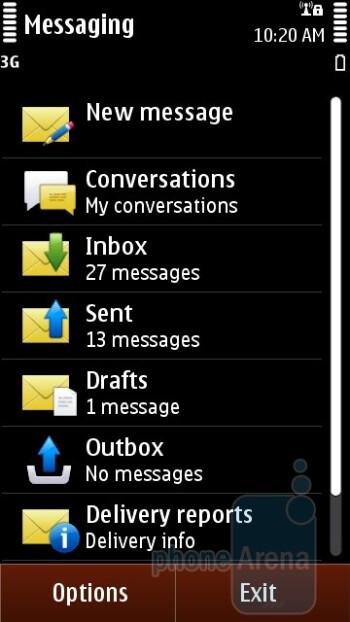 Text messaging on the Nokia C6-01 - Nokia C6-01 Review