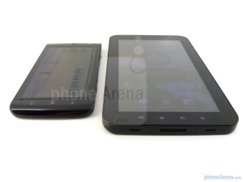 Both offer passable viewing angles and usage under outdoor conditions and are able to produce some distinctive looking colors - Dell Streak vs Samsung Galaxy Tab