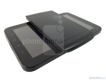 The Tab's screen size easily accommodates the entire body of the Dell Streak - Dell Streak vs Samsung Galaxy Tab