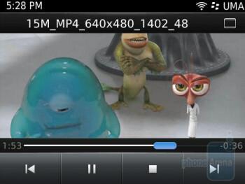 Video playback - RIM BlackBerry Bold 9780 Review
