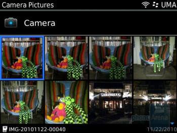 Gallery - Camera interface - RIM BlackBerry Bold 9780 Review