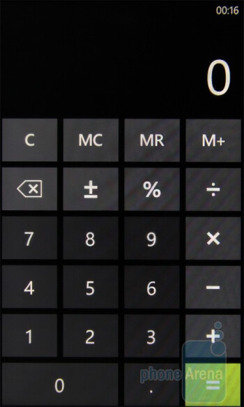 Calculator - HTC 7 Trophy Review