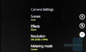 Camera settings - The Pictures hub - HTC 7 Trophy Review