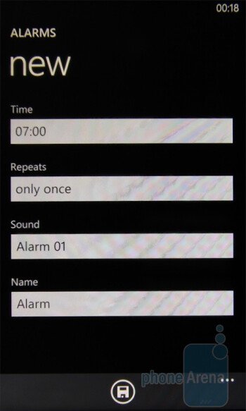 Alarms - HTC 7 Trophy Review