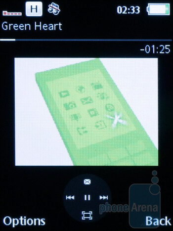The video player - Sony Ericsson Cedar Review