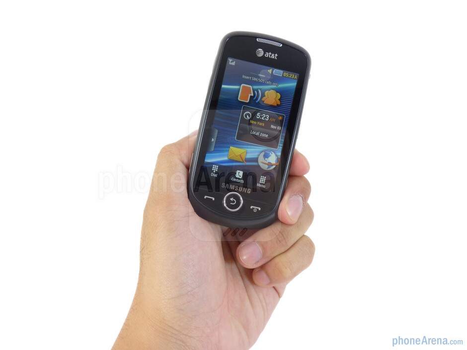 The Samsung Solstice II is a typical looking candybar handset - Samsung Solstice II Review