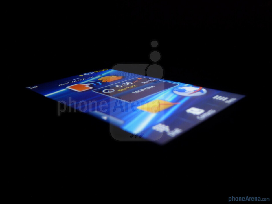The phone has a 3 inch TFT display - Samsung Solstice II Review