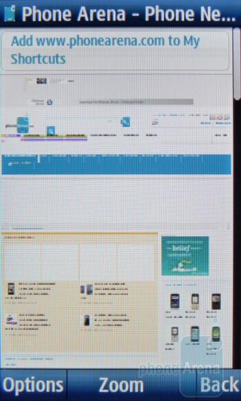 Internet browsing - Samsung Solstice II Review