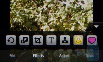 Editing photos - Samsung Solstice II Review