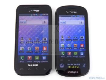 Samsung Fascinate (left) and Samsung Continuum (right) - Samsung Continuum vs Samsung Fascinate