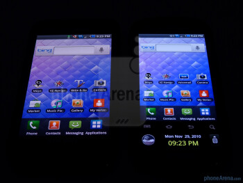 Samsung Fascinate (left) and Samsung Continuum (right) - Samsung Continuum vs Samsung Fascinate