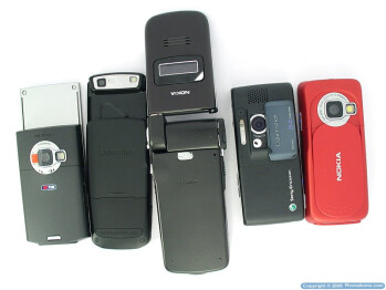 3-megapixel camera-phones comparison: D900, K800, N73, N80, N93