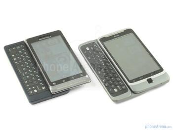 The Motorola MILESTONE 2 (left) and The HTC Desire Z (right) - Motorola MILESTONE 2 Review