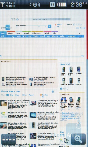 The web browser is pretty basic - Pantech Crux Review