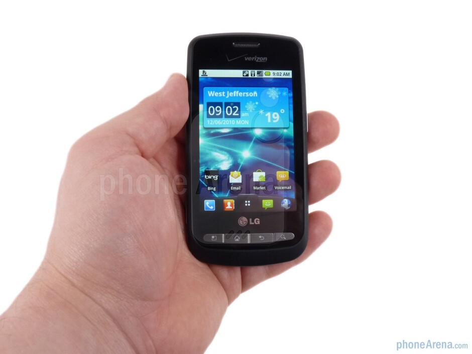 The LG Vortex has slim and simple design - LG Vortex Review