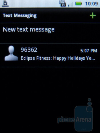 Messaging - The interface of the Motorola CITRUS - Motorola CITRUS Review