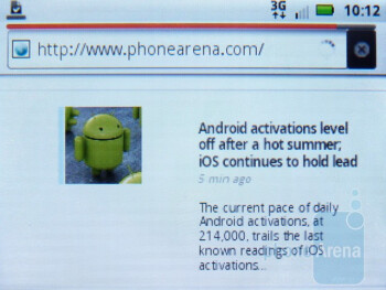 The stock Android browser is passable - Motorola CITRUS Review