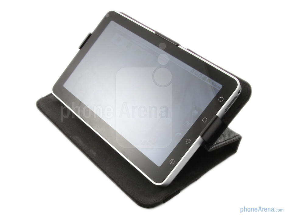 The ViewSonic ViewPad 7 comes with a cool leather folio case that doubles up as a stand - ViewSonic ViewPad 7 Review