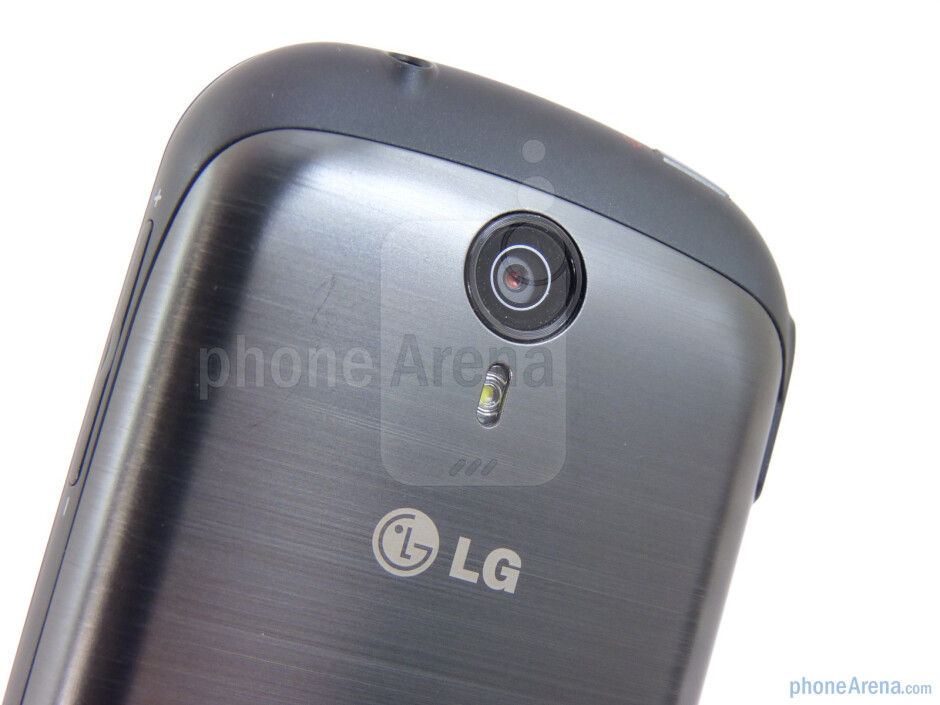 On the rear you can find the 5-megapixel auto-focus camera with LED flash - LG Quantum Review