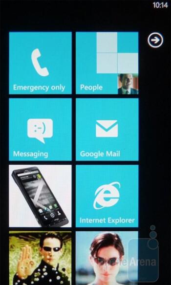 The interface of the LG Quantum - LG Quantum vs Samsung Focus